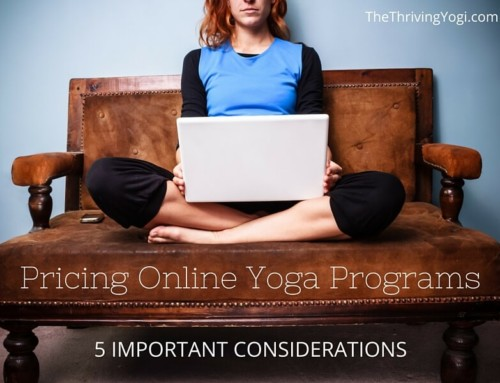 Pricing Online Yoga Programs